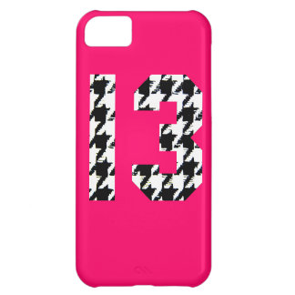 Houndstooth Lucky Number 13 iPhone 5C Case