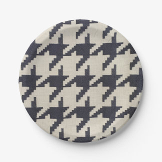 Houndstooth Paper Plates 7 Inch Paper Plate