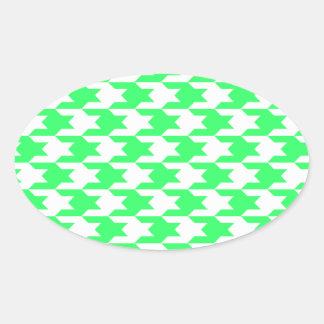 Houndstooth Pattern 1 White Sticker