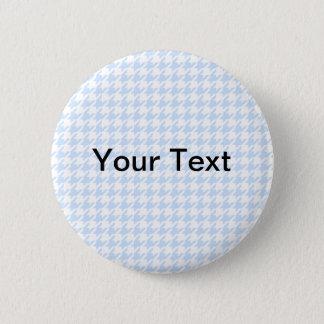 Houndstooth pattern - baby blue 6 cm round badge