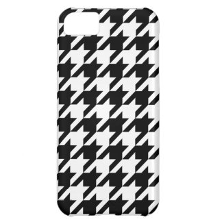 Houndstooth Pattern Black & White, iPhone 5 case