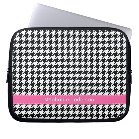 Houndstooth Pattern Laptop Sleeve
