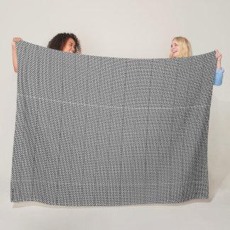 Houndstooth Pattern Large Fleece Blanket