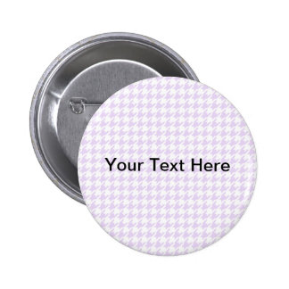 Houndstooth pattern - lilac purple 6 cm round badge