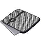 Houndstooth Pattern with Monogram Laptop Sleeve