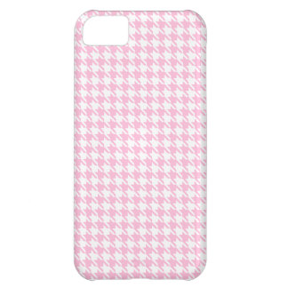 Houndstooth Pink and White iPhone 5C Case