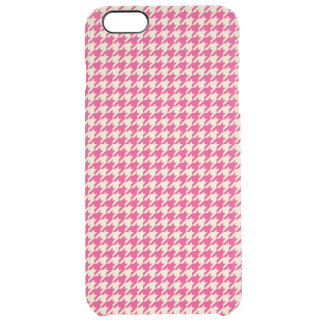 Houndstooth Pink Clear iPhone 6 Plus Case