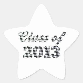 Houndstooth Print Class of 2013 Star Sticker
