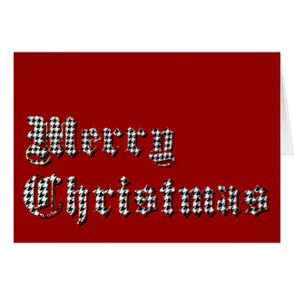 Houndstooth Print Merry Christmas Card