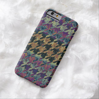 Houndstooth Rustic Purple Brown Barely There iPhone 6 Case