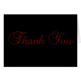 Houndstooth Script Thank You Card