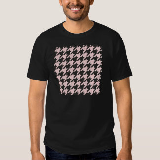 Houndstooth seamless pastel pink and black pattern tee shirts