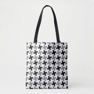 Houndstooth Star GS Pattern Tote Bag