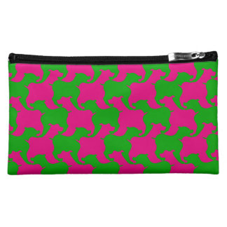 Houndstooth Tesselation Dog M Cosmetic Bag