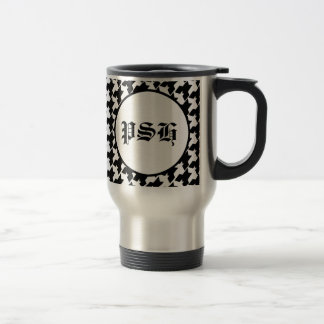 Houndstooth Travel Mug