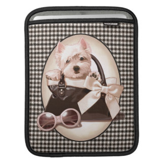 Houndstooth Westie puppy iPad Sleeve