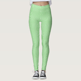 Houndstooth yellow green leggings