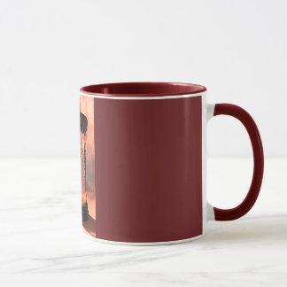 Hourglass Burgundy Combo Mug