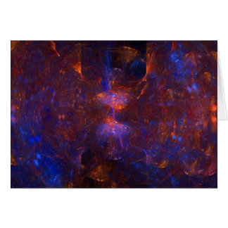 """Hourglass Cave"" Fractal Art Card"