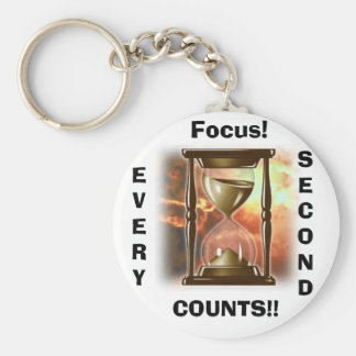 Hourglass, Focus!, EVERY, SECOND, COUNTS!! Key Ring
