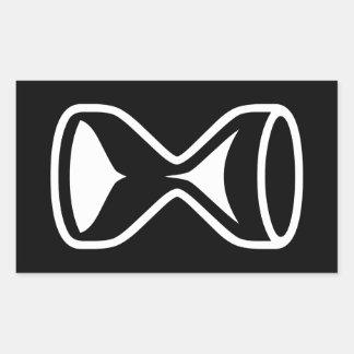 Hourglass Rectangular Sticker