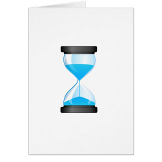 Hourglass Sand Timer Card