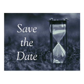 HOURGLASS SAVE THE DATE ANNOUNCEMENT POSTCARD