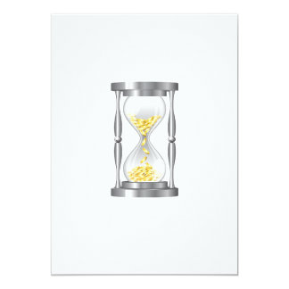 Hourglass With Money Card