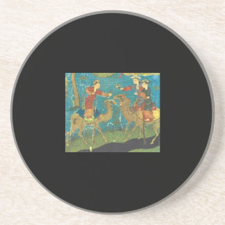 Houris on Camelback 15th century Persia Beverage Coaster