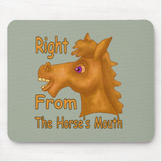 Hourse's Mouth Shirt Mouse Pad
