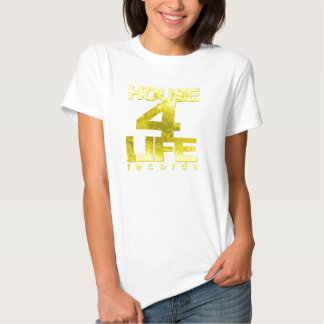 House 4 Life Records Ladies Fitted Babydoll Tee-Ye Shirts