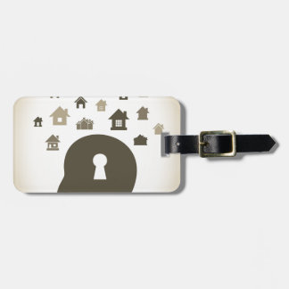 House a head luggage tag
