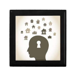 House a head small square gift box