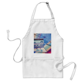 House Abstract CricketDiane Art & Design Apron