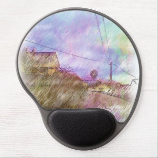 House and road gel mouse pad