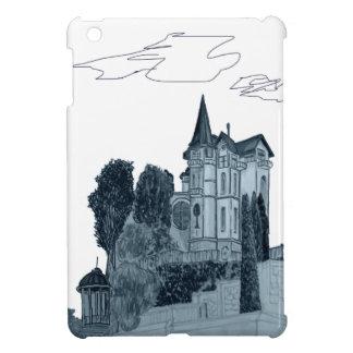 house and trees iPad mini cases