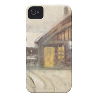 House at Dusk by Laszlo Mednyanszky iPhone 4 Case-Mate Cases