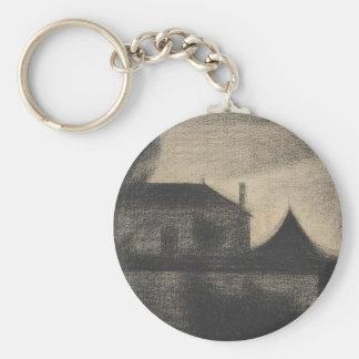 House at Dusk (La Cité) Key Ring