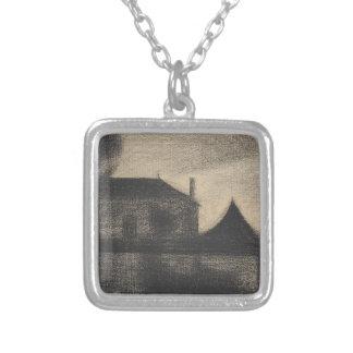 House at Dusk (La Cité) Silver Plated Necklace