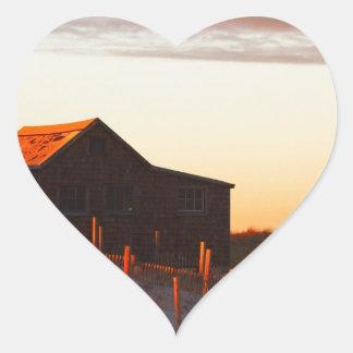 House at Sunset - 1 Heart Sticker