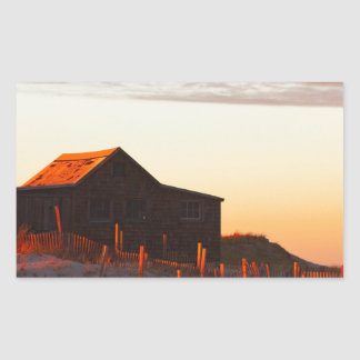House at Sunset - 1 Rectangular Sticker