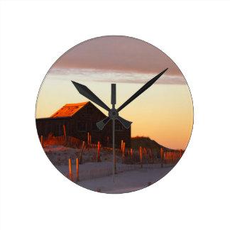 House at Sunset - 1 Round Clock