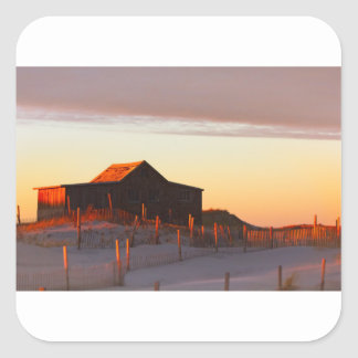 House at Sunset - 1 Square Sticker