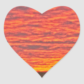 House at Sunset - 2 Heart Sticker