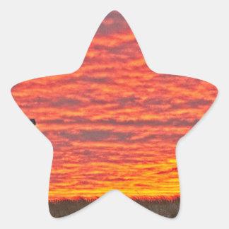 House at Sunset - 2 Star Sticker