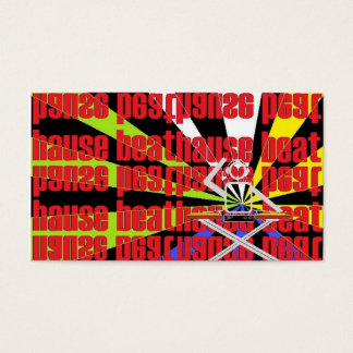 house beat business card