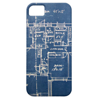 House Blueprints Case For The iPhone 5