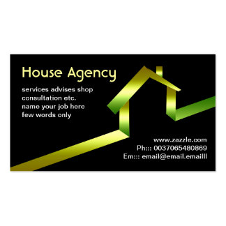 house business card standard business cards