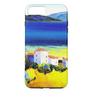 house by the sea colorful oil painting travel fun iPhone 8 plus/7 plus case