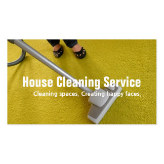 House Carpet Rugs Cleaning Housekeeper Maid Business Card Template